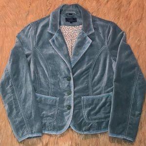 BODEN—Women's Blue, Three Button, Velvet Blazer!!
